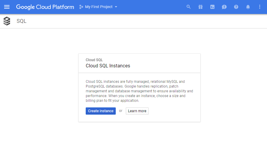 Google cloud instance