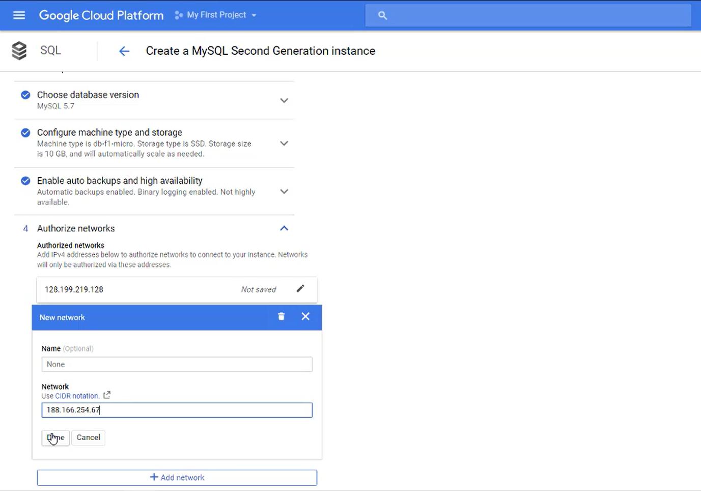 Google whitelist