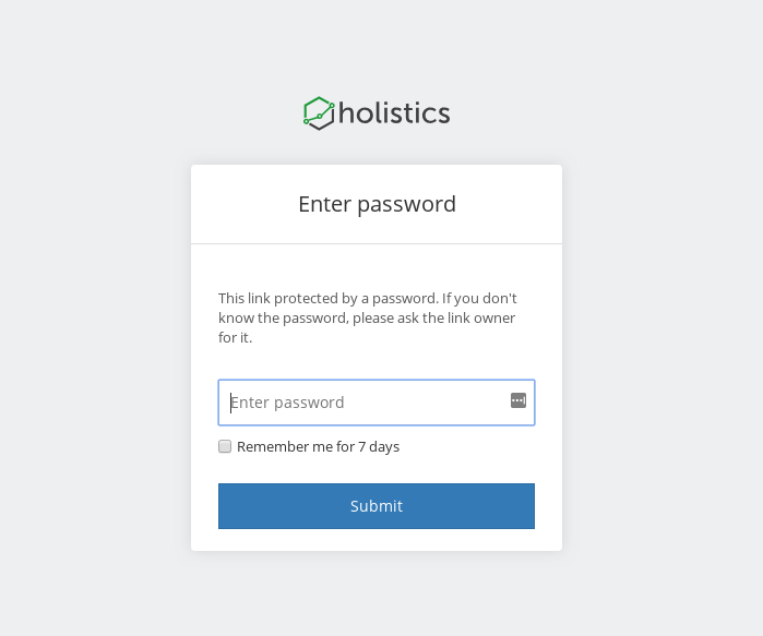 Shareable Link Password Protection