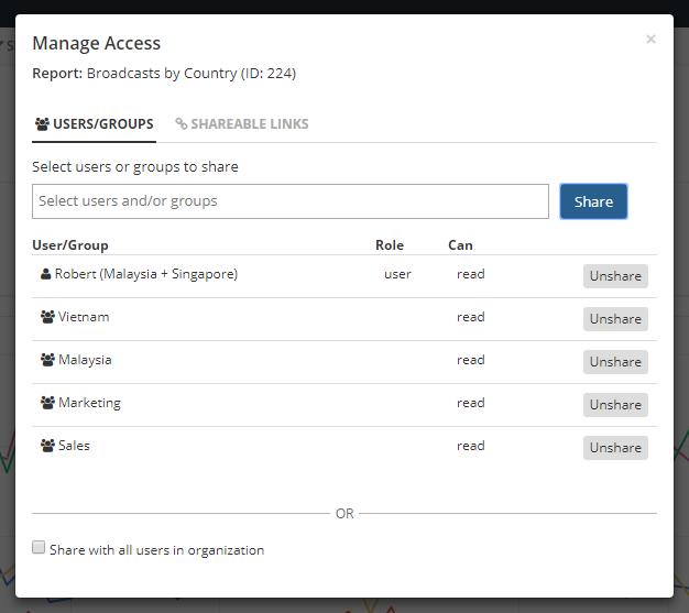 Set access permissions for Holistics users and groups